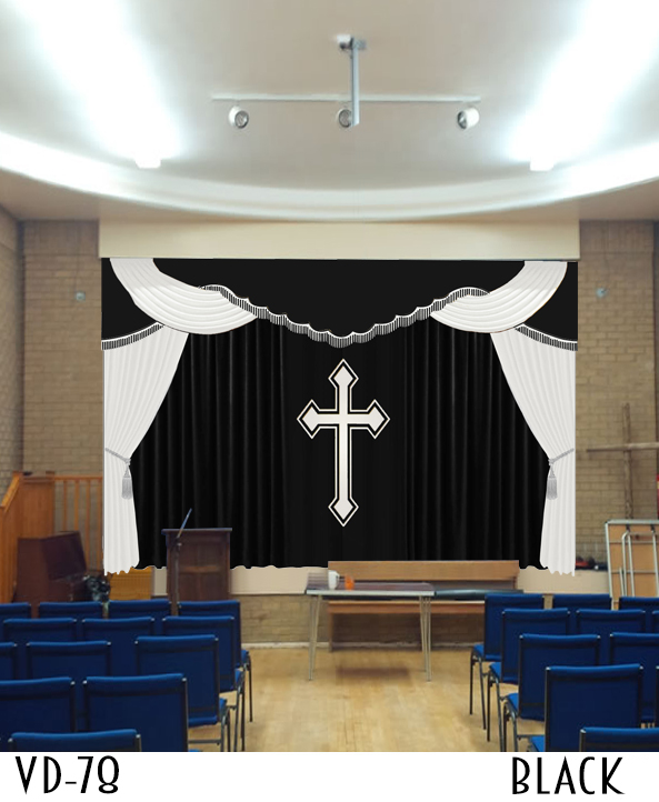 CHURCH CURTAINS AND DRAPES ALTAR DECORATION FOR SALE