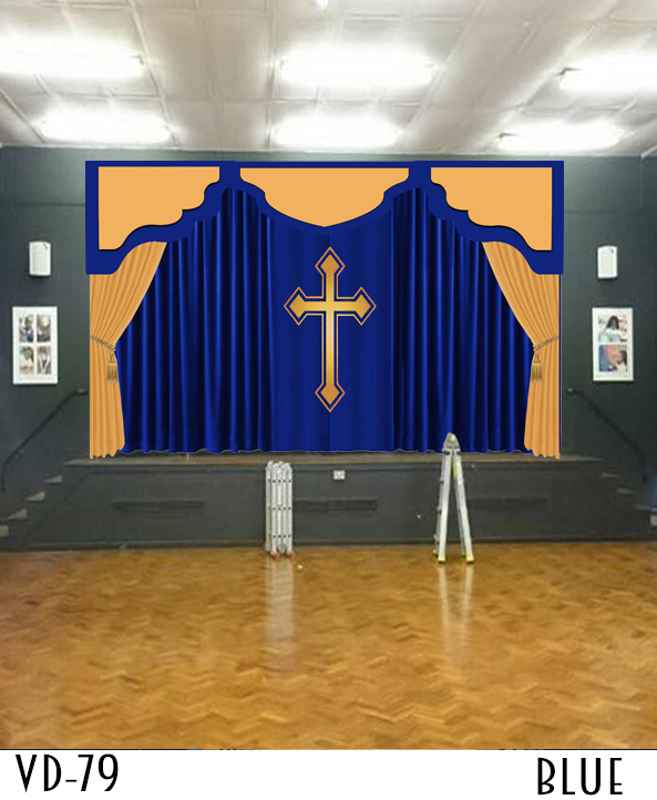 CHURCH CURTAINS DECORATIONS SANCTUARY ALTAR FOR SALE