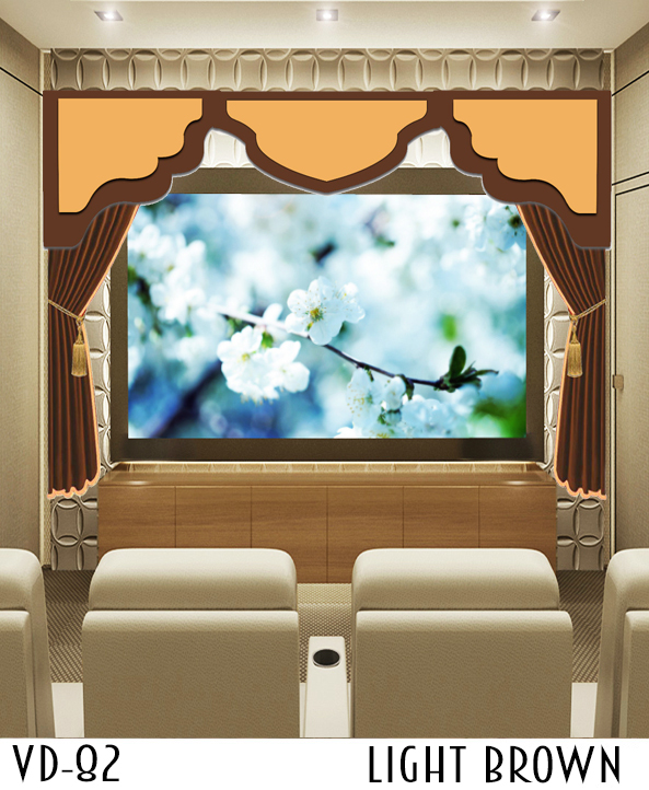 CUSTOM HOME THEATER SCREEN CURTAINS BACKDROP