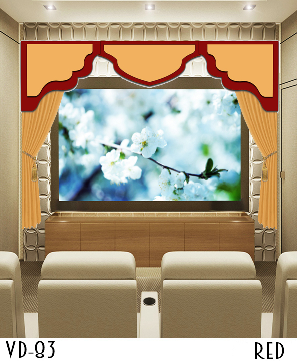 HOME THEATER MOVIE SCREEN CURTAINS