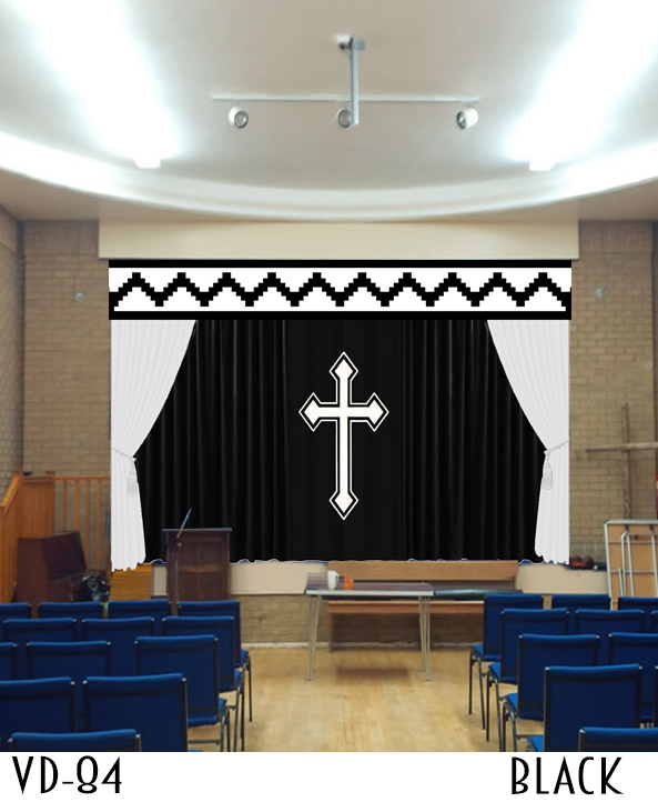 CHURCH STAGE CURTAINS DRAPES THEATER ALTAR DECORATIONS