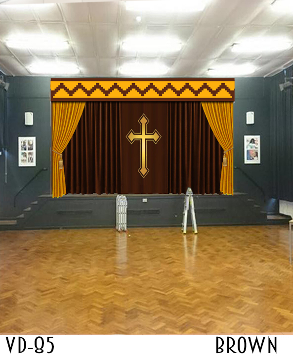 CHURCH STAGE CURTAINS DRAPES THEATER ALTAR FOR SALE
