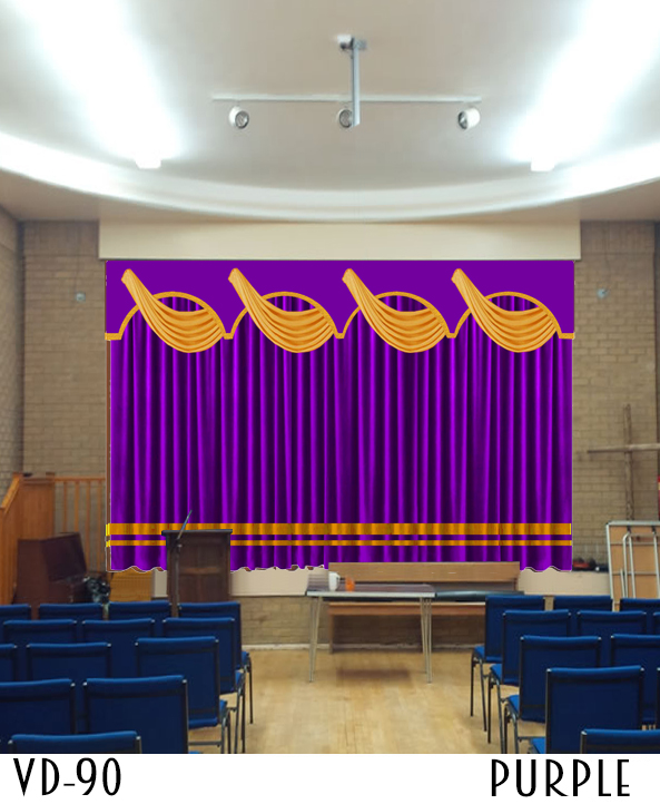 VELVET STAGE CURTAINS FOR CHURCHES SCHOOL MOVIE THEATER
