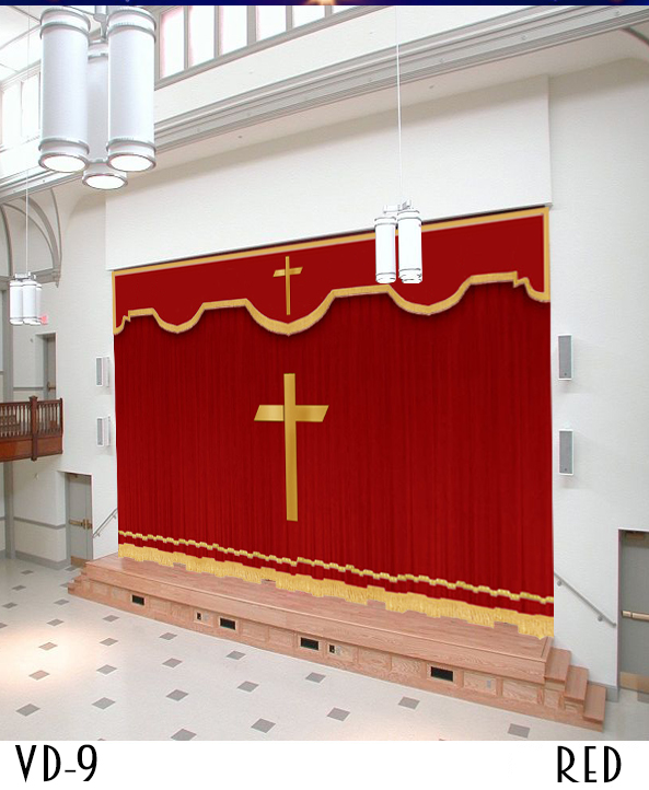 Brown Church Curtain Design